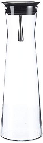 Bohemia Cristal 093 006 103 SIMAX Karaffe ca. 1100 ml aus hitzebeständigem Borosilikatglas mit praktischem Ausgießer aus Edelstahl 'Indis'