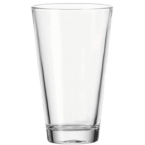 Leonardo Ciao Trink-Gläser, 18-er Set, spülmaschinengeeignete Wasser-Gläser, Trink-Becher aus Glas, Saftgläser, Longdrinkglas, 300 ml, 021918