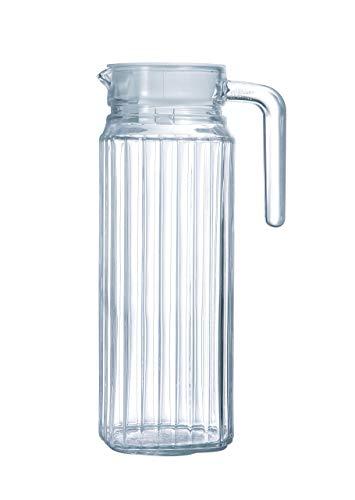 Luminarc ARC 70361 Quadro Krug, Kühlschrankkrug mit Deckel, 1.1 Liter, Glas, transparent, 1 Stüc