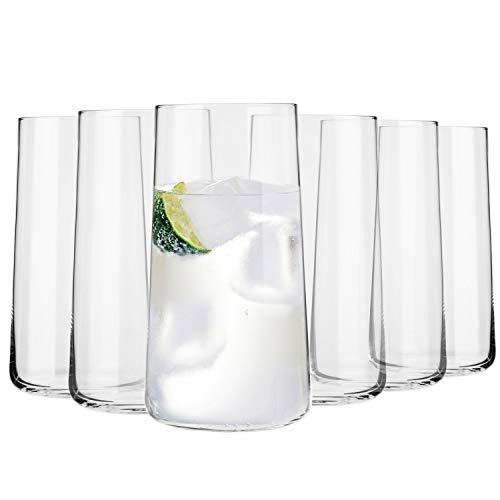 Krosno Wassergläser Longdrinkgläser Trinkgläser   Set von 6   540 ML   Avant-Garde Kollektion   Perfekt für zu Hause, Restaurants und Partys   Spülmaschinenfest u