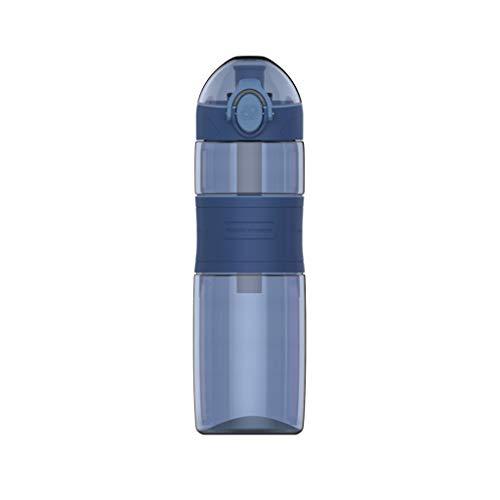 hkwshop Karaffe Krug Sport Flaschen mit dicht schließenden Deckel-Time Marker, Anti-Rutsch-Silikon, großer Wasserkaraffe-tragbarer Handgriff, Cup for Fitness/Camping Wasserkrug/Wasserkaraff