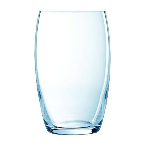 Luminarc 6 Hohe Trinkgläser Versailles, Glas, Transparent, 37 c