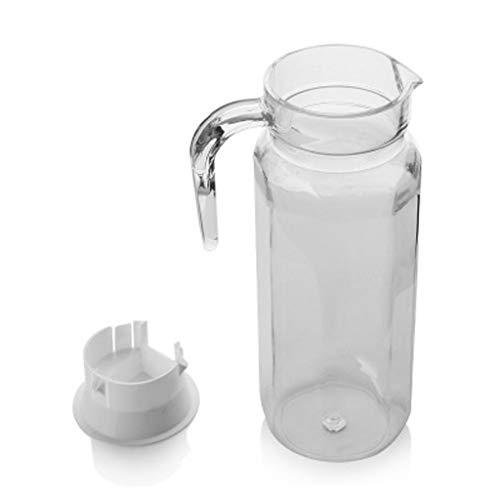 LLKK Achteckige Kaffeekanne,PC-Material-Krawattenkanne,eingedickte,tropfenförmige und kalte Wasserflasche,Plastik-Krawattenkanne 0.5/0.8/1.1 L Saftkrug Krug Wasser karaffen wasserkru