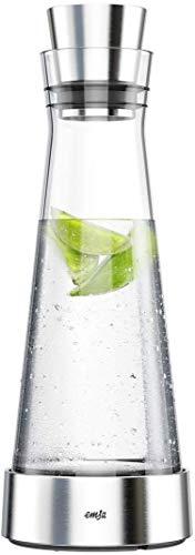 Emsa Glaskaraffe mit Kühlelement, glas, transparent, 1 L