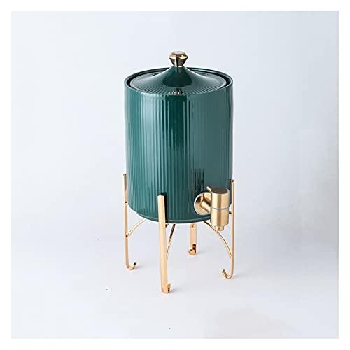 YIFEI2013-SHOP Wasserkrug Kreativer kalter Kühlkocher mit Basis Große Kapazität Teekanne mit Wasserhahn schön und praktisch für Häuser, Restaurants, Bars Wasserkaraffe (Color : Green)