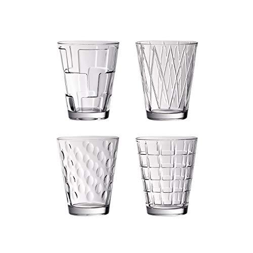Villeroy & Boch Dressed Up Wassergläser, 4er-Set, 310 ml randvoll gemessen, Kristallglas, K