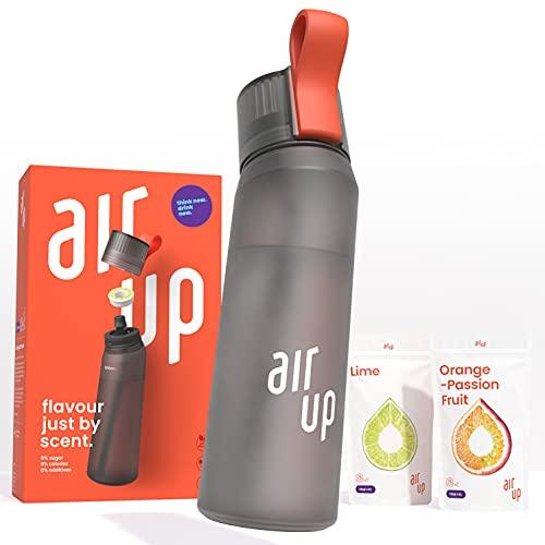 air up Starter-Set - 1 x Trinkflasche BPA-freies Tritan 650 ml 2 x Pods Geschmack Limette & Orange-Maracuja - Für Aromatisiertes Wasser 0 Zucker 0 Kalorien – Anth