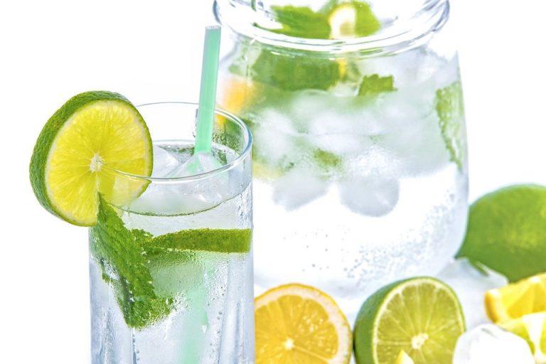 Erfrischendes Zitronen-, Minze-Wasser schnell selber machen